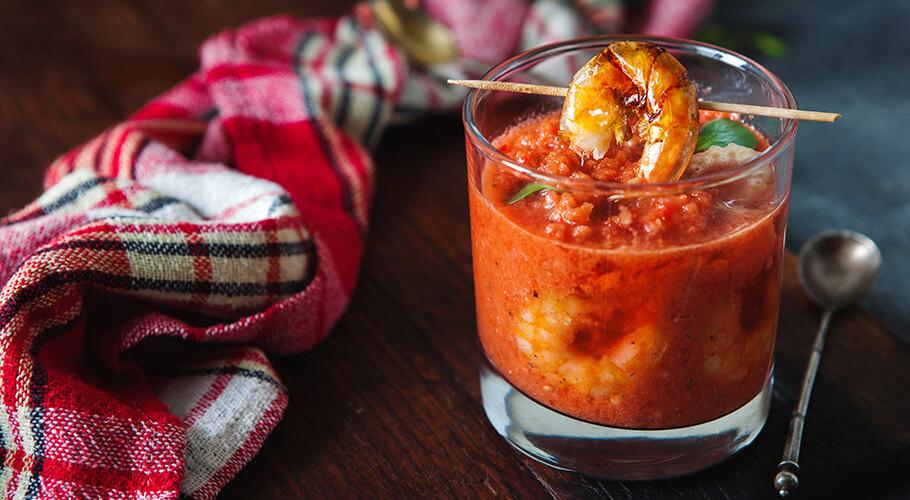 Gazpacho s krevetami